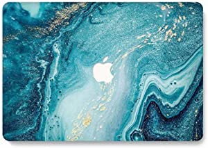 MacBook Pro 15 Case 2018 2017 2016 Release A1990/A1707 - AQYLQ Rubber Coated Protective Case Cover for Newest Macbook Pro 15 Inch with Touch Bar and Touch ID - Creative Wave