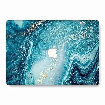 AQYLQ Funda Dura para MacBook Air 13 Pulgadas (A1369 / A1466), Patrón de Paisaje Ultra Delgado Carcasa Rígida Protector de Plástico Cubierta - Ola ...