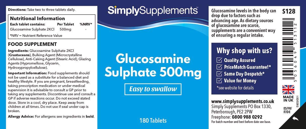 Sulfato de Glucosamina 500mg - 360 cápsulas - Hasta 6 meses ...