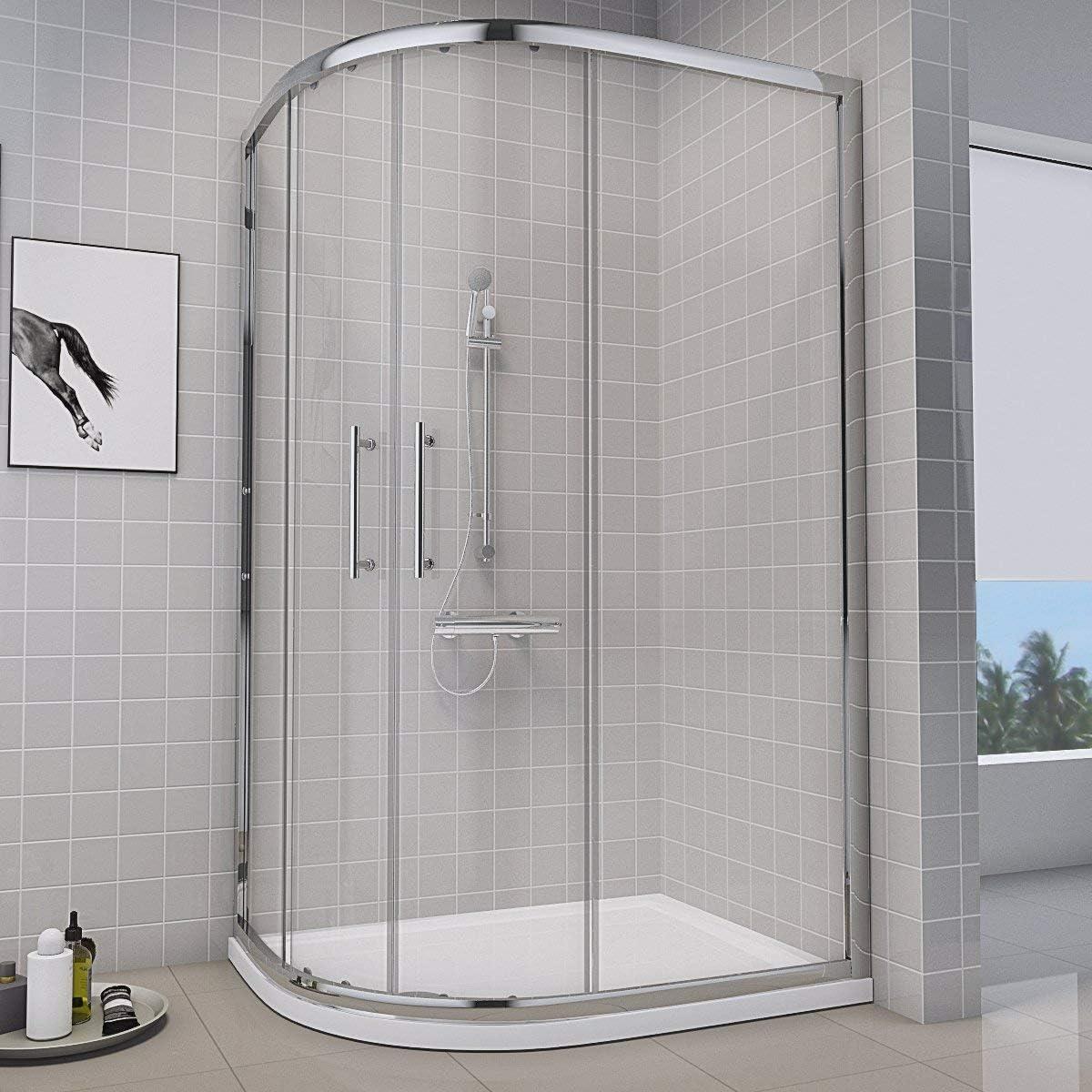 Aquariss Box ducha con plato ducha y desagüe ducha incluye cristal Tecnología Easy Clean montaje fácil y rápido: Amazon.es: Hogar