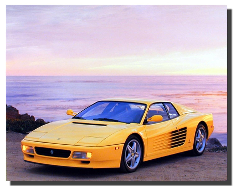 Amazon.com: Wall Decor Yellow Ferrari Testarossa Transportation Old