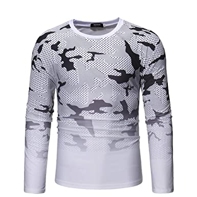 OSYARD Chemise Homme Manche Longues Hiver Sweatshirt Camouflage Shirts  Blouse Regular Tops Automne Occasionnel 8ca04984cf16