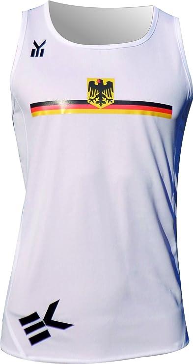 Ekeko Deutschland, Alemania, Camiseta de Tirantes para Running, Atletismo y Deportes de Playa, Muy Transpirable y Ligera (X-Large): Amazon.es: Deportes y aire libre