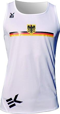 Ekeko Deutschland, Alemania, Camiseta de Tirantes para Running, Atletismo y Deportes de Playa, Muy Transpirable y Ligera (Large): Amazon.es: Ropa y accesorios