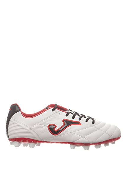 715c25dd9f091 Joma Bota Multitaco Cesped Artificial Fútbol FIT-100 Blanco Rojo 8.5   Amazon.es  Zapatos y complementos