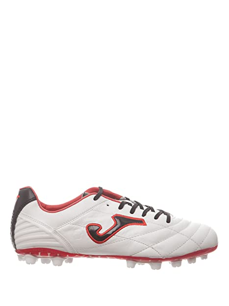 Joma Bota Multitaco Cesped Artificial Fútbol FIT-100 blanco rojo 8.5  Amazon .es  Zapatos y complementos a77a895cd3ae5