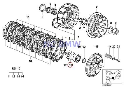 Amazon.com: BMW Genuine Motorcycle Clutch Oil Pump Diaphragm Spring on