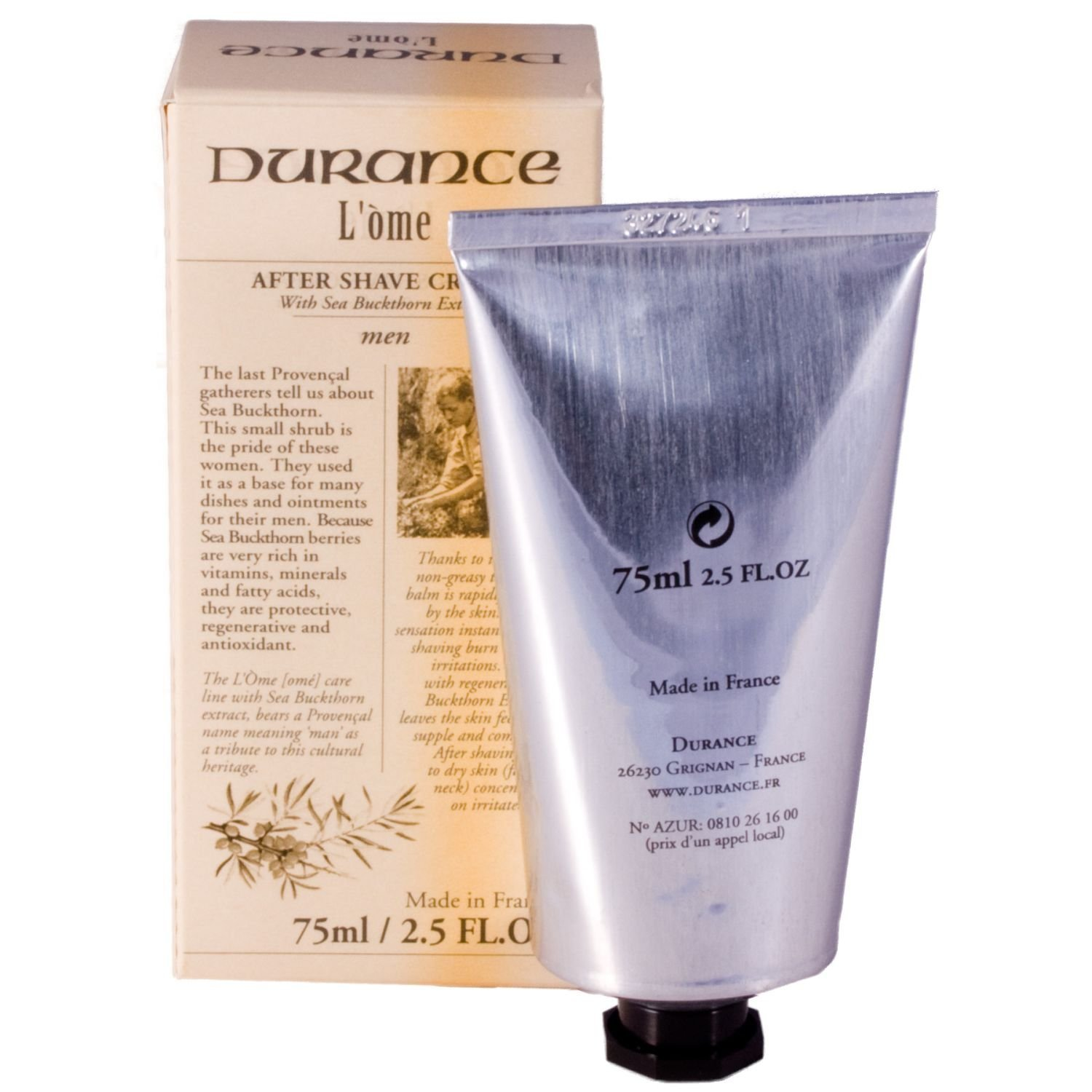 Durance L'Ome After Shave Cream Balm - 75ml Sea Buckthorne