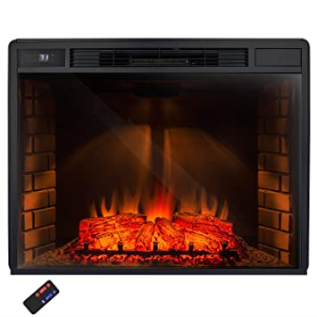 "Amazon.com: AKDY® 33"" Freestanding Electric Heater Fireplace Log Set w/ Remote Control AZ-EF05-33: Home & Kitchen"