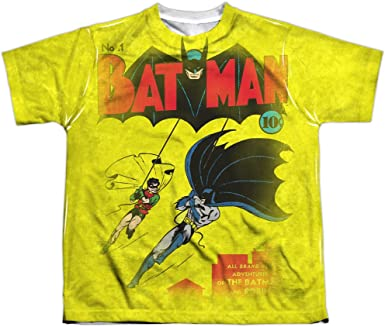 Batman Classic Comic Robin FIGHTING BACK 2-Sided All Over Print Poly T-Shirt
