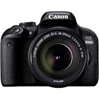 Canon EOS 800D Super Kit with EFS 18-135mm f 3.5-5.6 IS STM Digital Camera - SLR(800DSK) 3Inch Display,Black (Australian warranty)