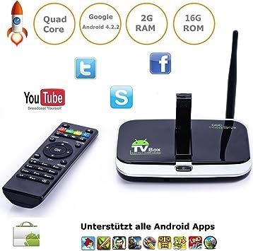 tinxi® CS918S Smart TV Box Mini PC Android 4.2 Quad Core A31 16GB 2GB 5MP cámara webcam: Amazon.es: Electrónica