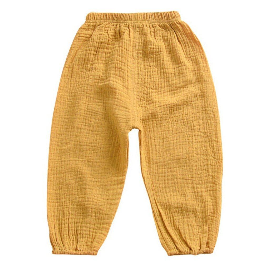 Kids Lantern Harem Pants Full Cotton Full Length Children Girls Trousers Y 2T