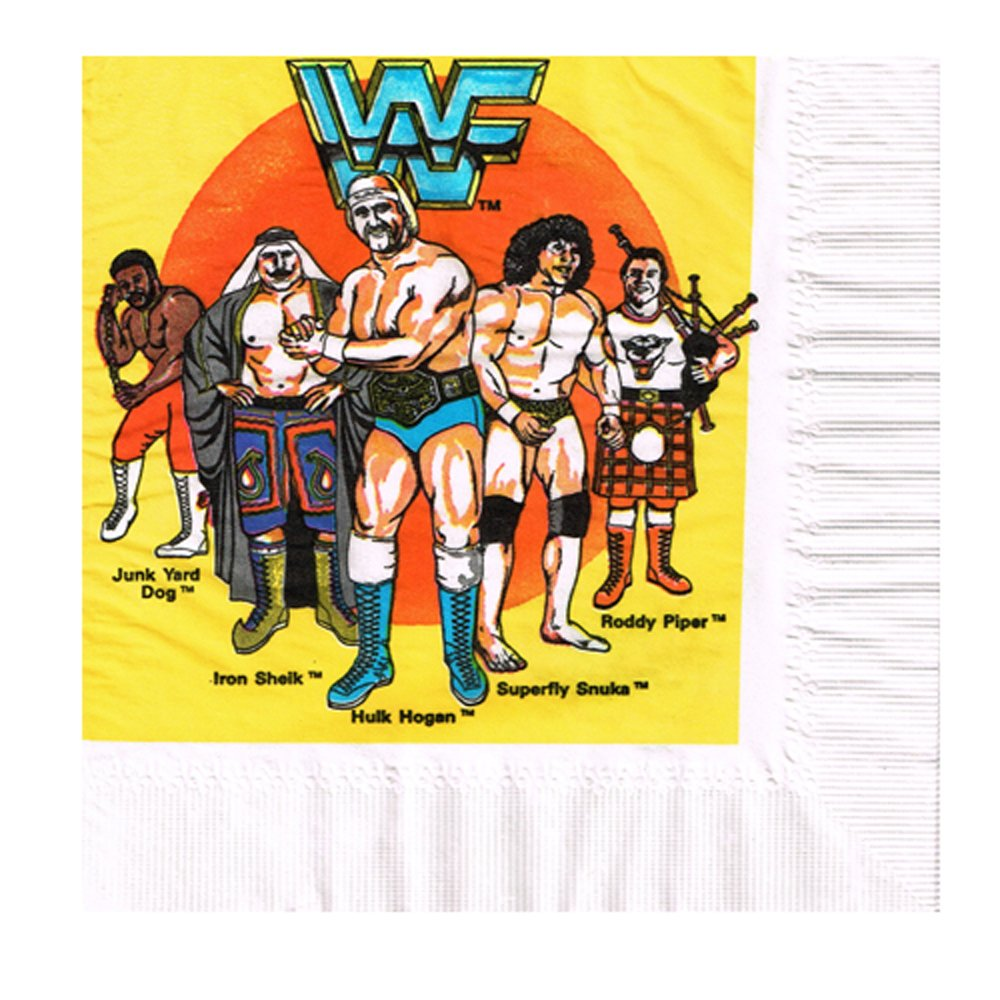 WWF Wrestling Vintage 610mTitan Sports Inc' Lunch Napkins (16ct) B01MF9EGVY