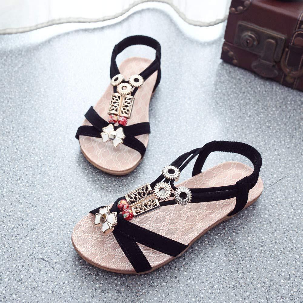 Sandals Fashion Women Boho Sandals Leather Flat Sandals Ladies Shoes Pandaie Womens ..