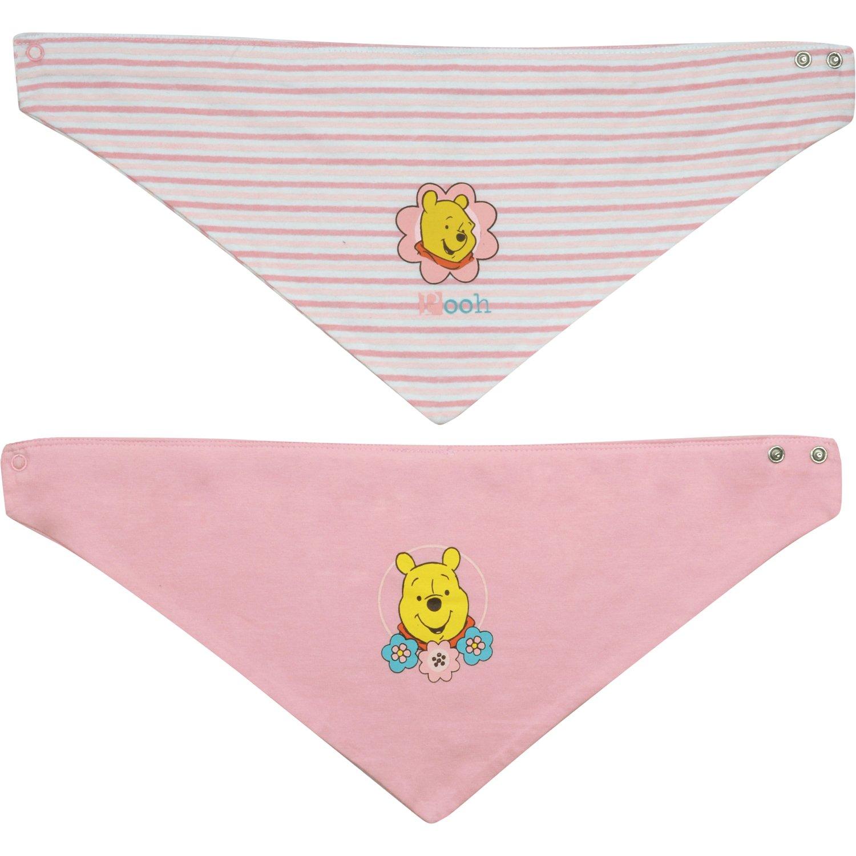 Winnie Puuh - Baby Halstuch'Pooh', 2er Pack, rosa-weiß