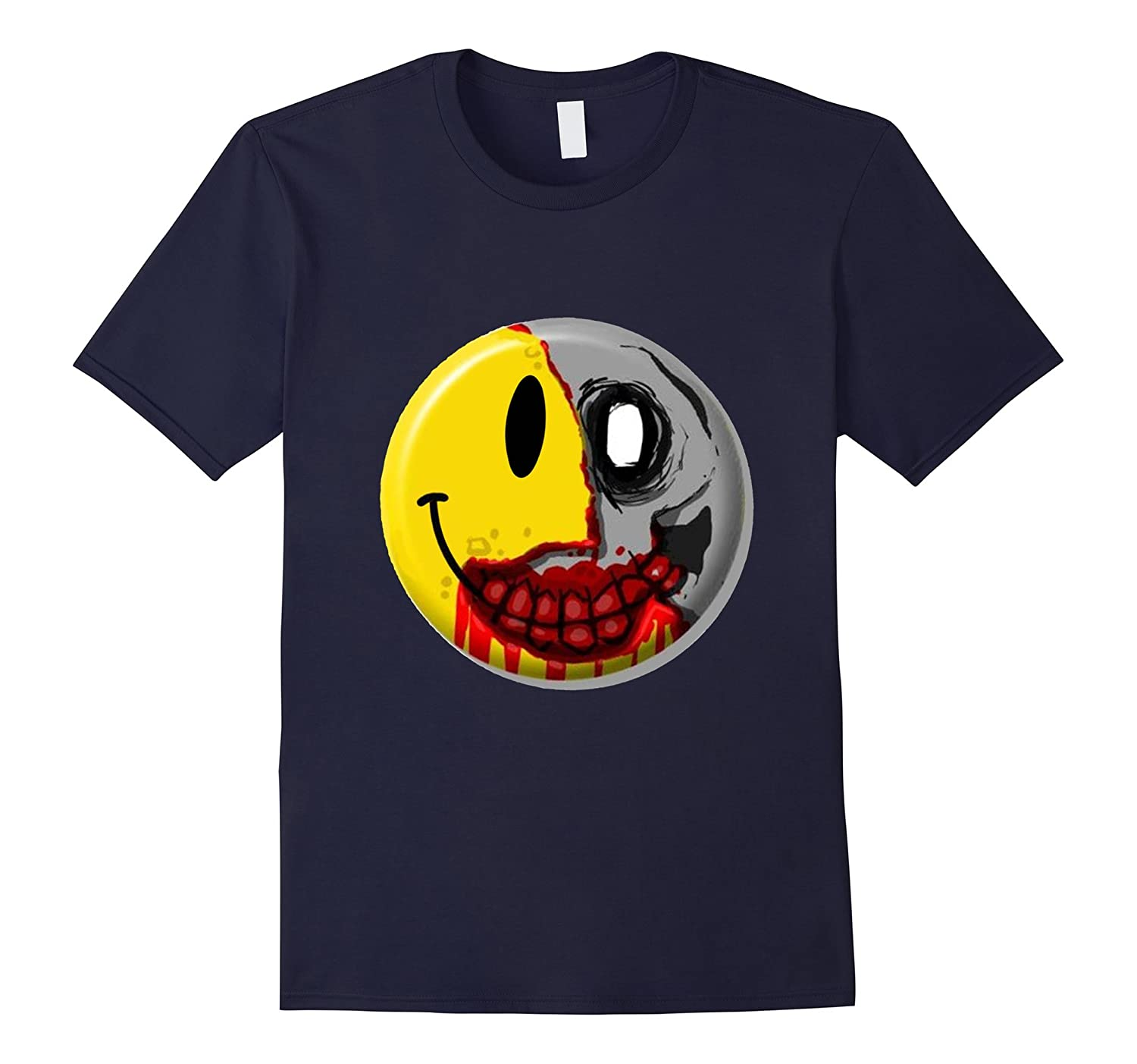 Halloween Emoji T Shirt Smiley Zombie Shirt-TJ