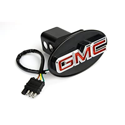 Reese Towpower 86061 Licensed LED Hitch Light Cover with GMC Logo, Chrome Finish: Automotive