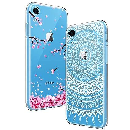 Cover Fai Da Te.2 Pack Yoowei Cover Per Iphone Xr Trasparente Con Disegni Morbida Silicone Ultra Sottile Tpu Gel Custodia Protettiva Compatibile Con Iphone Xr