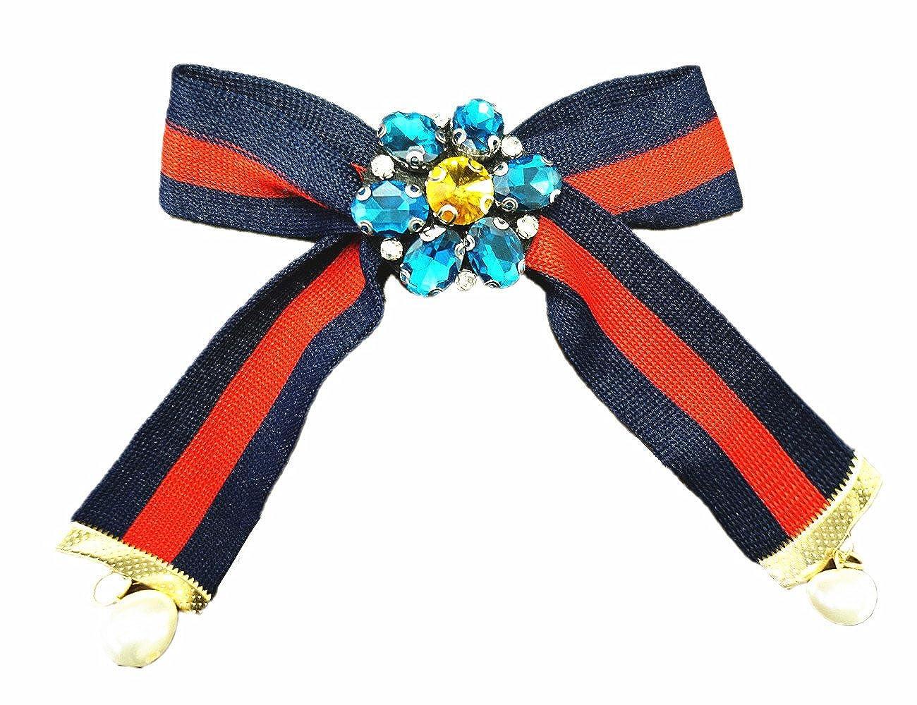 Choker Krawatte Fliege Collier Diamanten Strass Blogger Schwarz Weiß SL-421