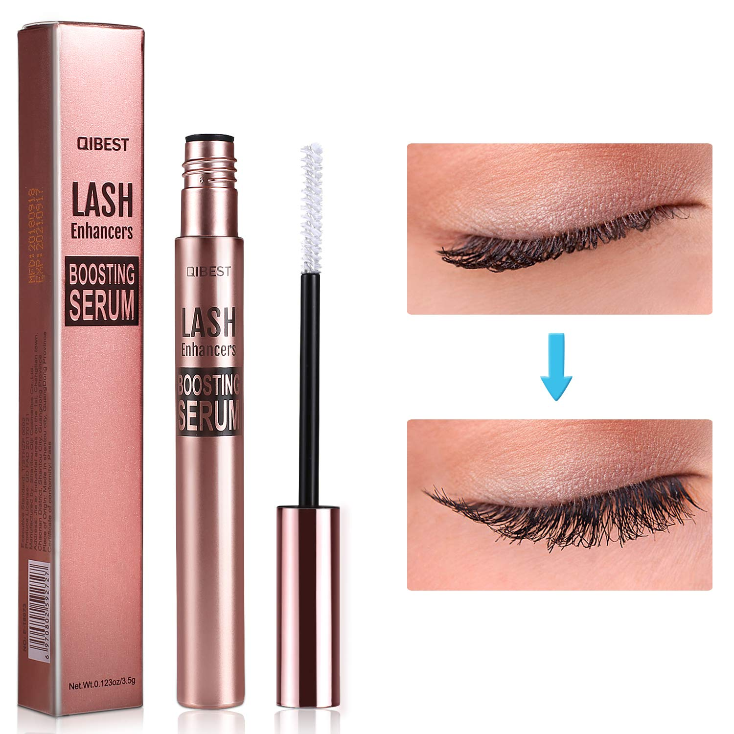 da423f715d1 Amazon.com: Eyelash Growth Serum,MayBeau Natural Brow Lash Enhancer,Nourish  Damaged Lashes and Boost Rapid Growth for Any Kind of Lash and Brow in 20  Days: ...