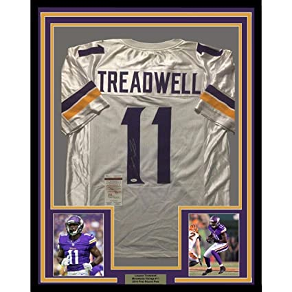 timeless design 849bc 7ea6e Laquon Treadwell Signed Jersey - FRAMED 33x42 White COA ...