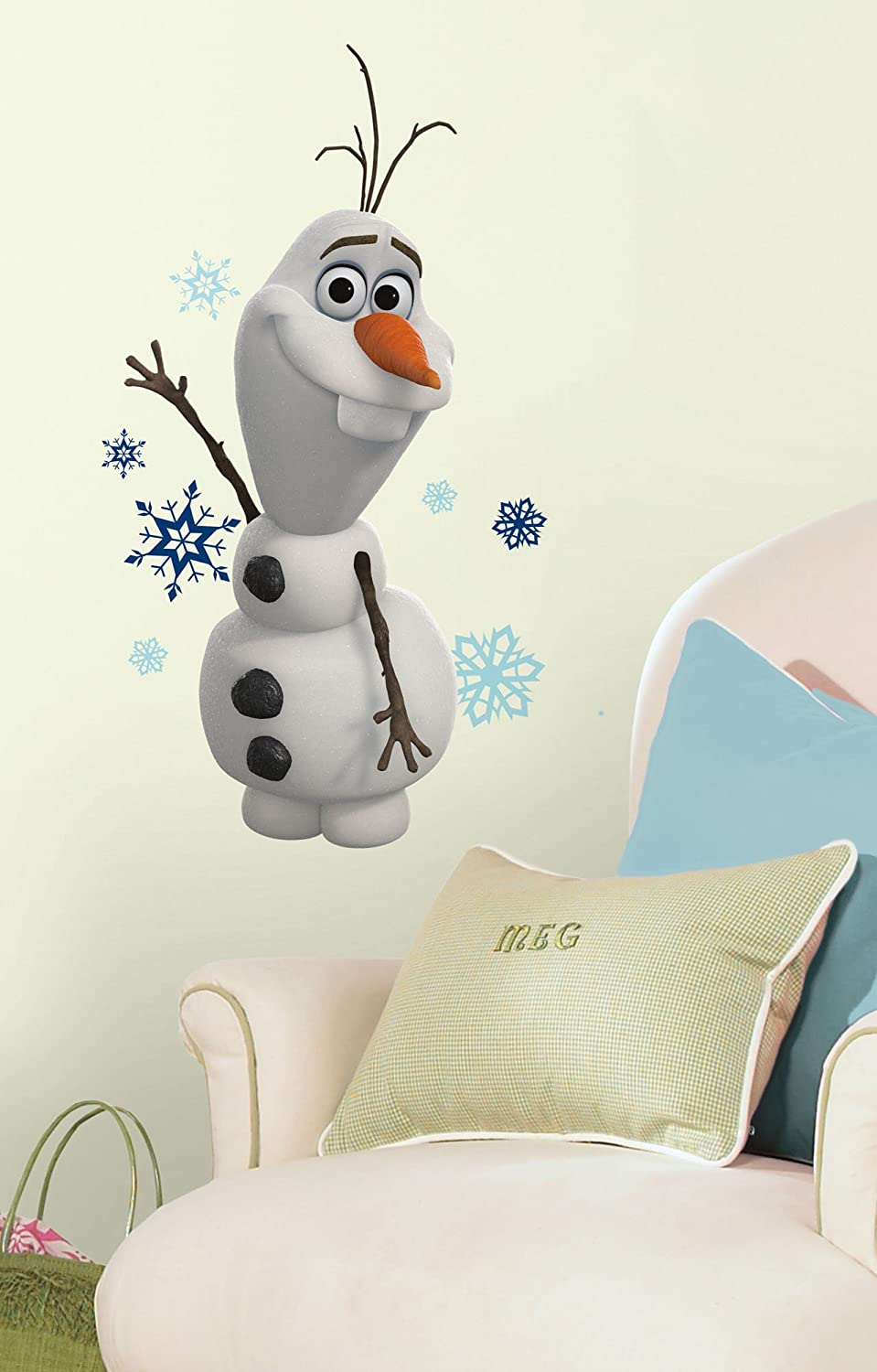 Great Roommates RMK2372SCS Frozen Olaf The Snow Man Peel And Stick Wall Decals,  25 Count   Decorative Wall Appliques   Amazon.com