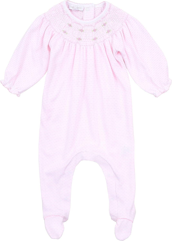 Magnolia Baby Baby Girl Jillian and Jacobs Classics Bishop Footie Pink