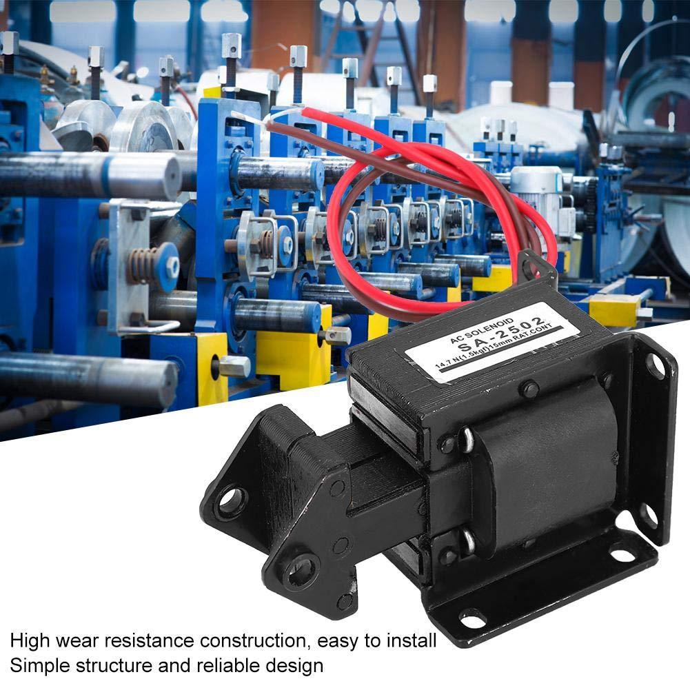 Elettromagnete AC Magnete di Trazione Elettromagnete per Automazione Industriale 220VAC 14.7N 15mm Corsa SA-2502