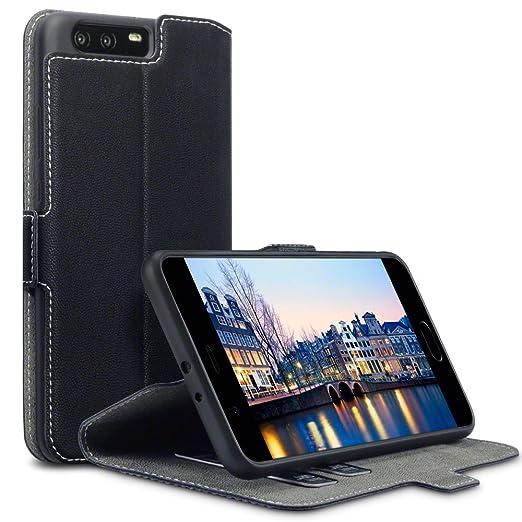 5 opinioni per Huawei P10 Plus Cover, Terrapin Cover di Pelle con Funzione di Appoggio
