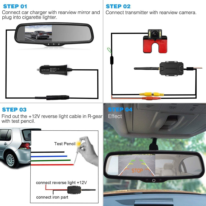 Auto Vox T1400w Wireless Rückfahrkamera Set Kabellose Elektronik