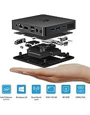 BMAX B1 Mini PC, Windows 10 Home 64-Bit, 4GB DDR3 + 64G eMMC Intel N3060 4K HD-Grafiklüfterlos Mini-Computer 1000Mbps LAN/HDMI/VGA/ RJ45 2.4G+5.8G Dual WiFi
