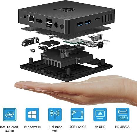 BMAX B1 Mini PC Windows 10, Ordenador de sobremesa, Intel N3060 ...