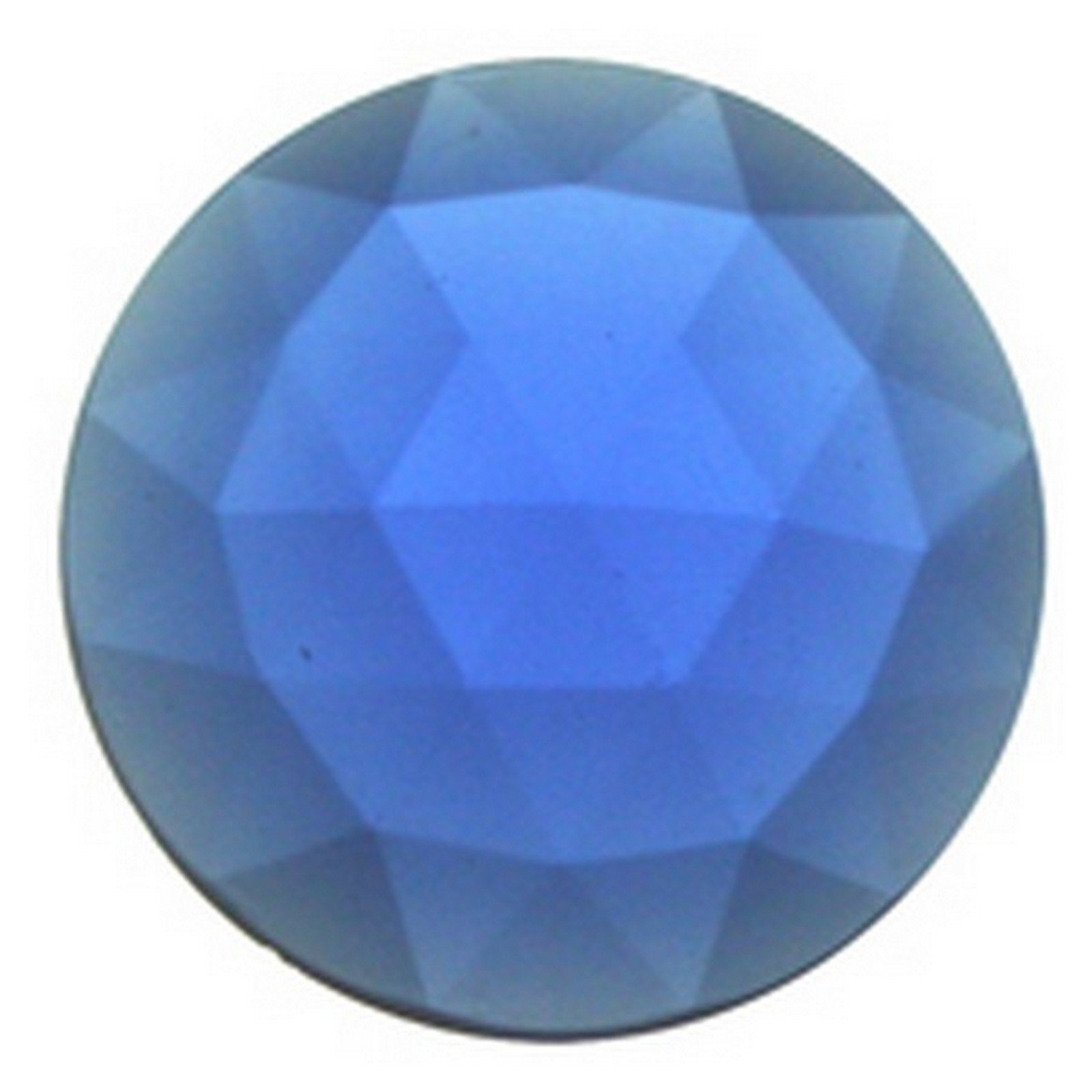 Stained Glass Jewels - 25mm Round Faceted - Dark Blue (Pack of 4) By Stallings Stained Glass by Stallings Stained Glass