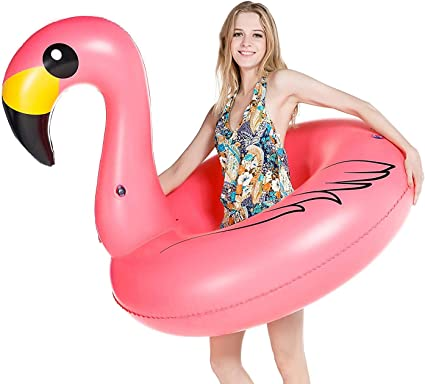 Amazon.com: Flamenco inflable piscina flotador Jasonwell ...