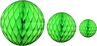 product image for Lime Green Honeycomb Balls, Set of 3 (12 inch, 8 inch, 5 inch)