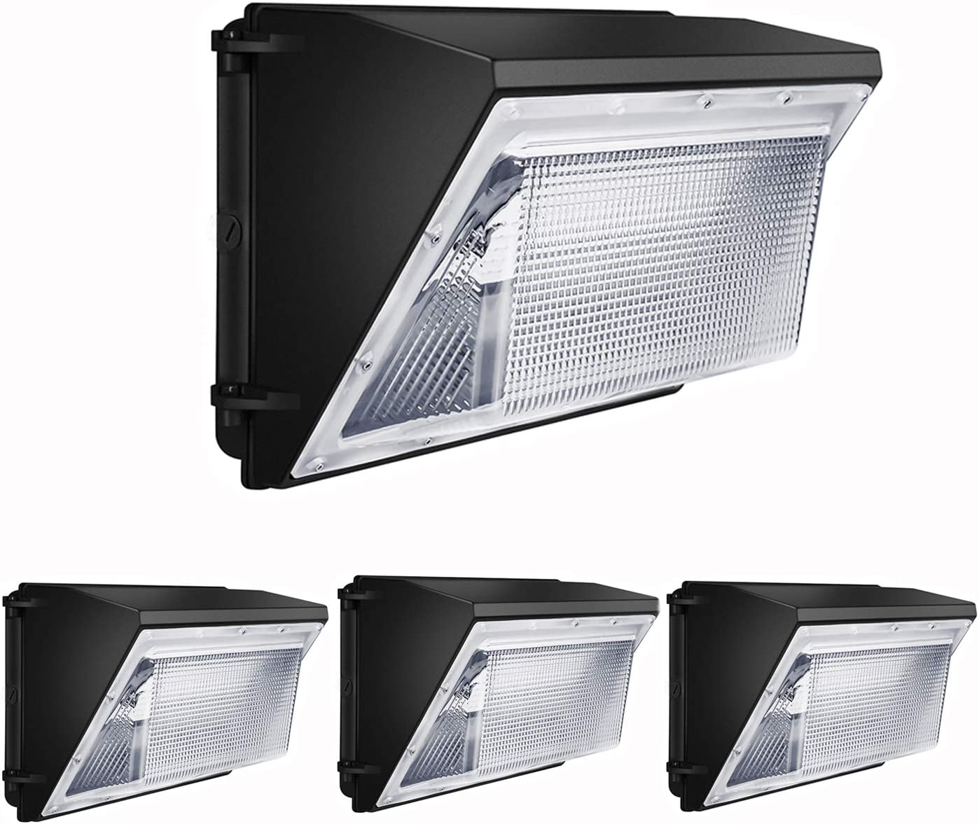 Led Wall Pack Light 120W 4 Pack 16200lm Wall Pack led 5000K Commercial led Wall Pack Outdoor 840W HPS HID Equivalent