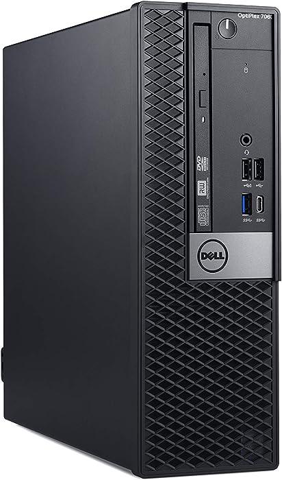 Dell OP7060SFFXP0PY OptiPlex 7060 SFF Desktop Computer with Intel Core i5-8500 3 GHz Hexa-core, 8GB RAM, 256GB SSD (Renewed)