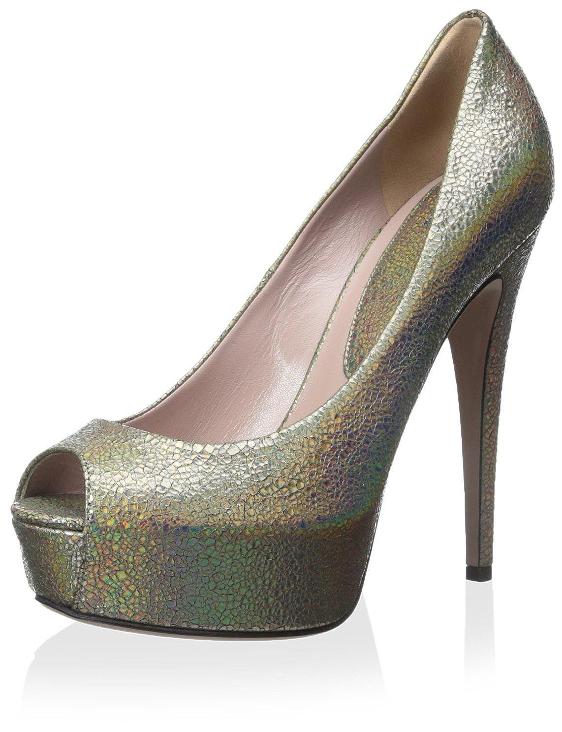 902d2fb8d6c2e Amazon.com: Gucci Women's Peep Toe Pump, Fawn, 38.5 M EU/8.5 M US: Shoes