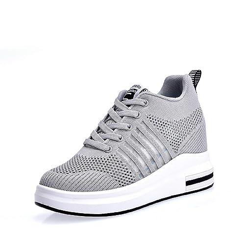 AONEGOLD® Damen Sneaker Wedges mit Keilabsatz Turnschuhe Sportschuhe Laufschuhe Atmungsaktive Mesh Freizeitschuhe