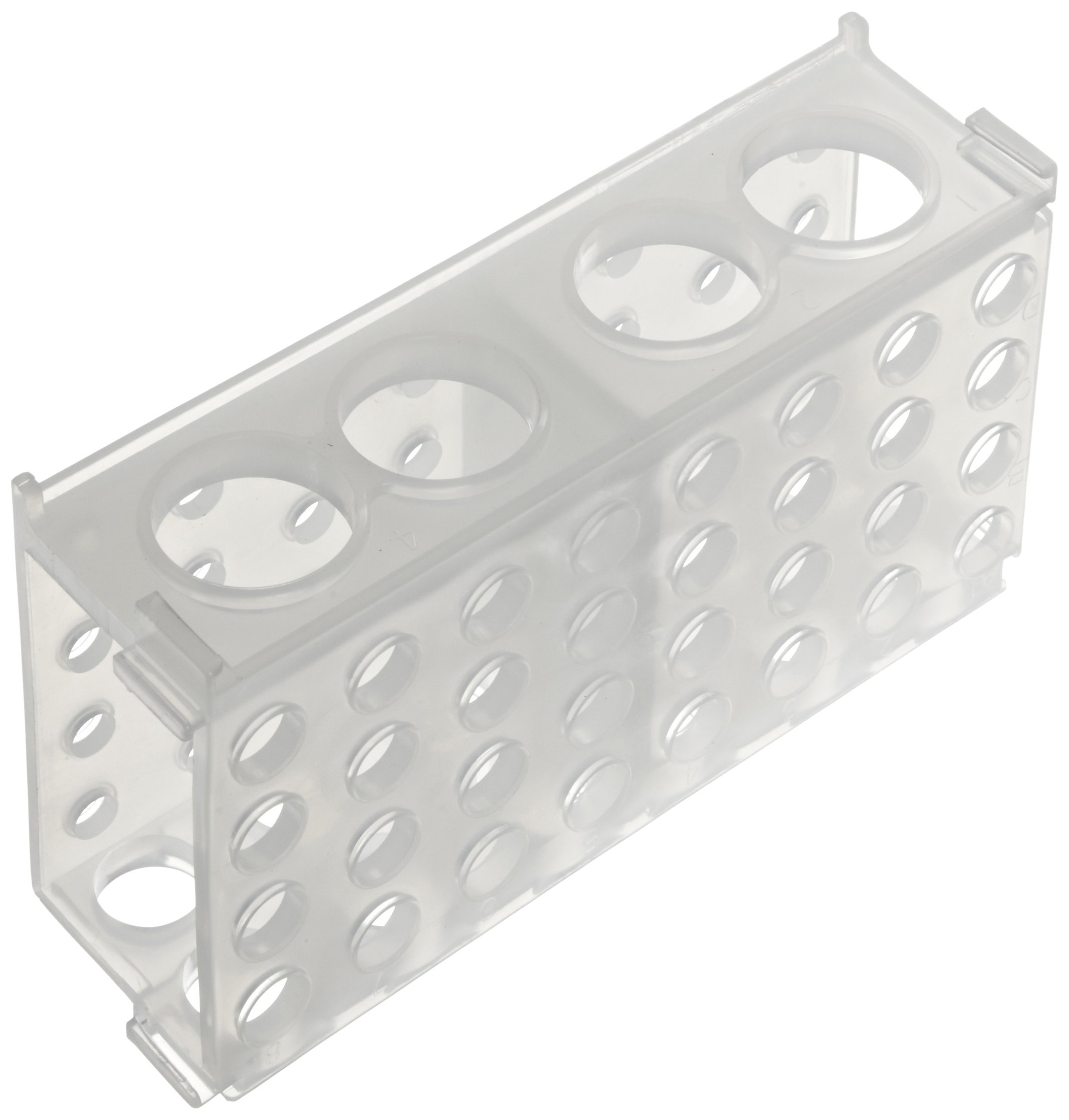 Heathrow Scientific HS29022A 4 Way Tube Rack, Polypropylene, Natural (Pack of 5)