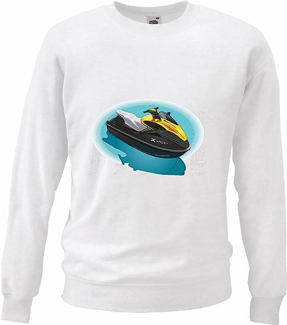 Sudaderas Suéter Barcos Jet SKI Jet SKI Y Licencia DE Barco DE Accesorios Jetski en Blanco: Amazon.es: Ropa y accesorios