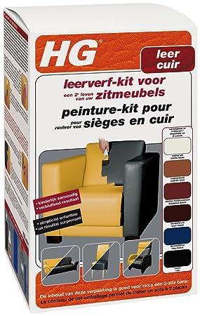 Hg Peinture Pour Cuir Kit Noir 700 Ml: Amazon.Fr: Hygiène Et Soins