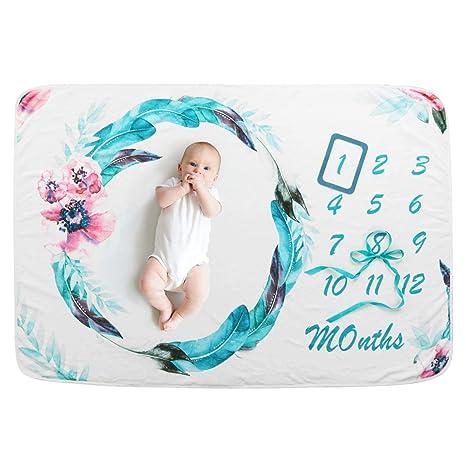 Mensual Mantas bebé Milestone hito Recién nacido regalo Fondo de ...