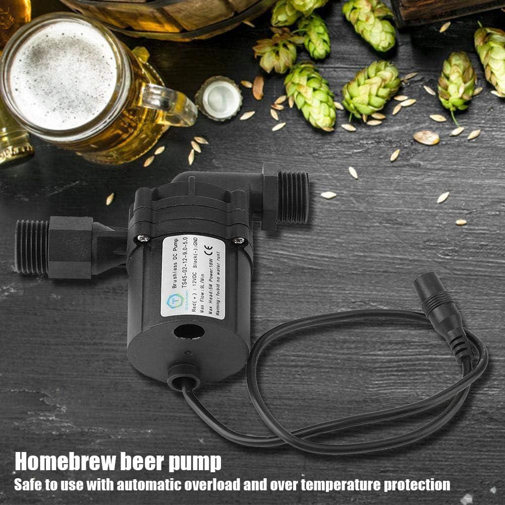Leyeet Beer Pump,DC 12V 18W Plastic Brewing Homebrew Pump Non-Toxic Circulation Brushless Beer Pumps