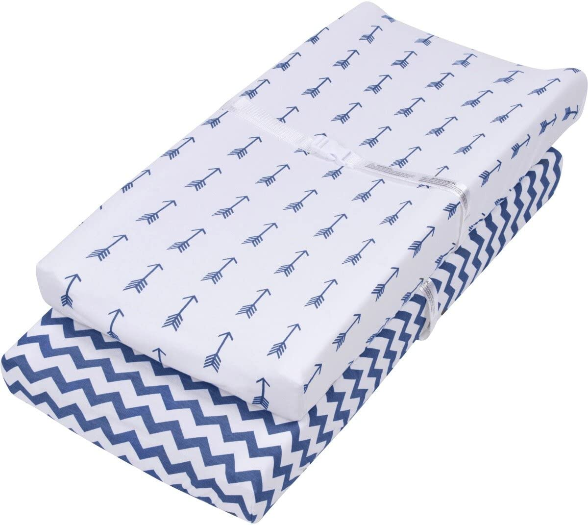 150 GSM Navy and White BaeBae Goods Changing Pad Cover Set 3 Pack Cradle Bassinet Sheets//Change Table Covers for Boys /& Girls Super Soft 100/% Jersey Knit Cotton
