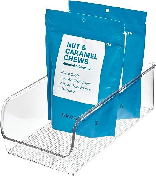 iDesign Caja transparente apilable, organizador de cocina mediano ...