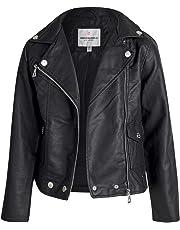 URBAN REPUBLIC Toddler & Big Girls Faux Leather Motorcycle Moto Biker Jacket