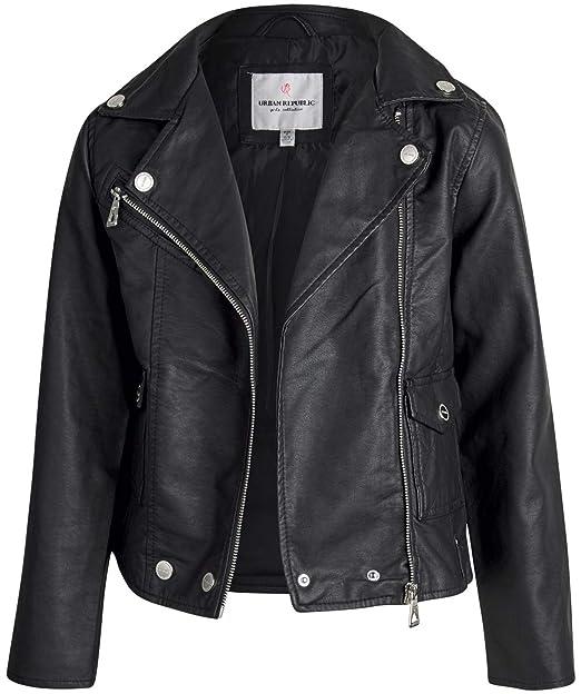 Amazon.com: Urban Republic Girls Faux Leather Motorcycle ...