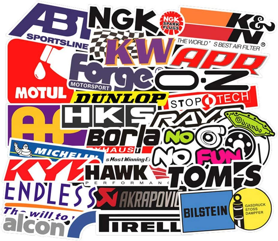 Laptop Stickers Pack [103pcs] Racing Stickers, Bomb Stickers,Cool Stickers for Motorcycle Skateboard Travel Sticker Laptop Luggage Car Bicycle Helmet Stickers